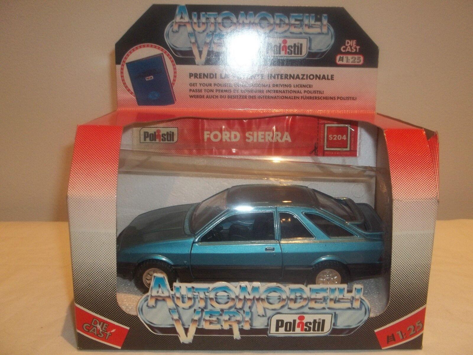 Vintage Polistil S204 Ford Ford Ford Sierra bluee 1 25 (Rare) cd172b