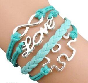 Autism-autistic-awareness-puzzle-piece-charm-BRACELET-gift-bangle-jewellery-AB28