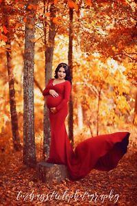 maxi lungo maternità abito fotografici Abito Puntelli HxR7aaw