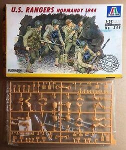 Glorieux Italeri 344 - U.s. Rangers Normandy 1944 - 1/35 Plastic Kit