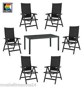 7tlg kettler basic plus gartenm bel 1tisch 140 cm und 6. Black Bedroom Furniture Sets. Home Design Ideas