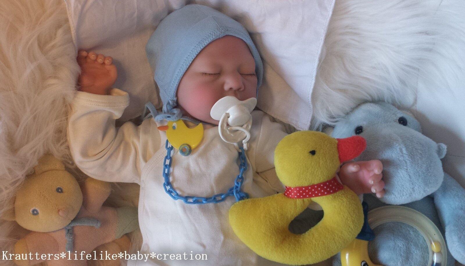 ✨ ♥Reborn Reallife Oster Baby Boy BS von U.L Krautter Babypuppe Künstlerpuppe♥✨