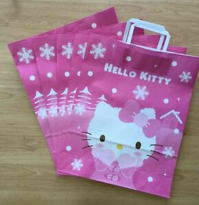ce39362d31c Sanrio Hello Kitty Holiday 2014 5pc Paper Gift Shopping Bags   eBay