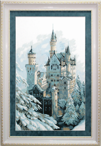 EMBROIDERY-KIT-COUNTED-CROSS-STITCH-CHARIVNA-MIT-WINTER-CASTLE-IN-SNOW-M-98