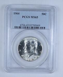 1964 P Kennedy Silver Half Dollar PCGS MS65