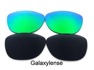 Galaxy-Lentes-De-Repuesto-Para-Oakley-Frogskins-gafas-de-Sol-Negro-y-verde