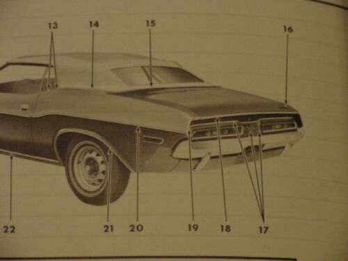 1971 1972 1973 1974 Dodge Challenger Trunk LIP MOLDING NOS MoPar Chryco W//Clips