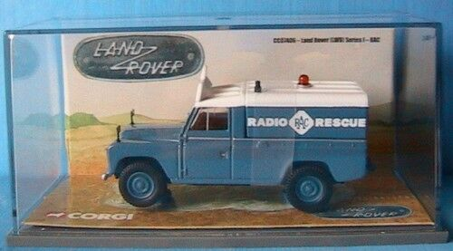 LAND ROVER LWB SERIES 1 RAC CORGI CC07406 1 43 TOLE NEW RADIO RESCUE UK RHD
