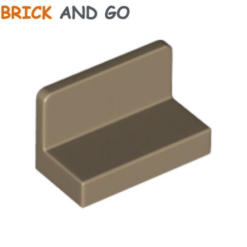 6 x LEGO 4865b Mur Panneau dark tan Panel 1x2x1 Rounded Corners NEUF NEW