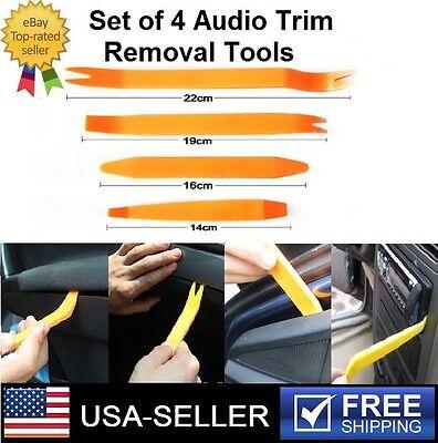 Set of 4Pcs Car Radio Door Panel Trim Dashboard Interior Light Removal Tools Kit