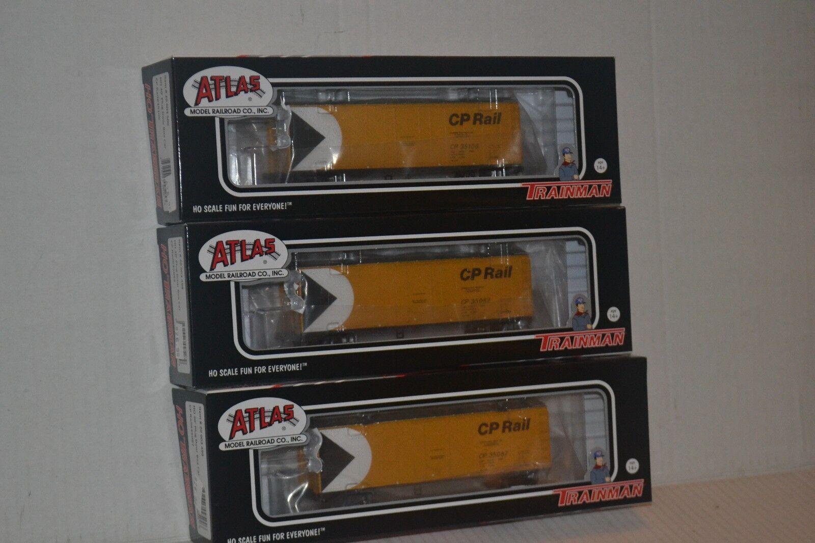 3 Atlas CP Rail 40' Plug Door Box Car Ho Scale 20003498, 3499, 3500