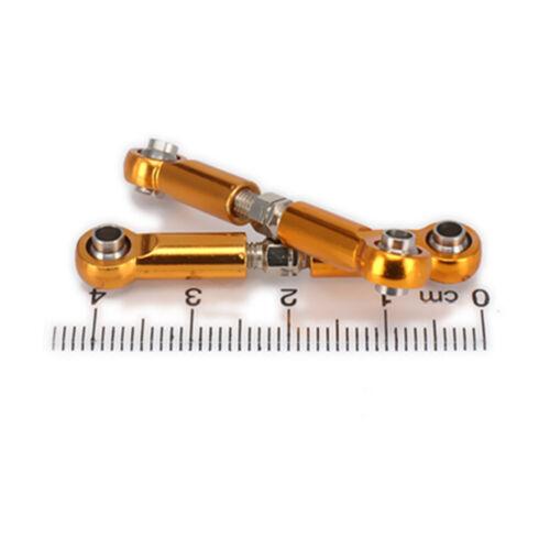 Rear For RC 1//18 Wltoys A959 A969 A979 K929 Yellow Part Alum Servo Link Front