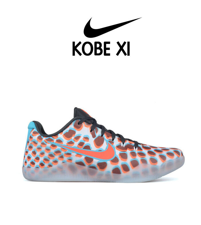 NIKE Kobe XI Low 3D Cool Grey Red bluee Multicolor WTK What The Bryant 6 VI Sz 13