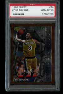 1996-97 Topps Finest Kobe Bryant Rookie PSA 10 Gem Mint RC #74 LA Lakers HOF