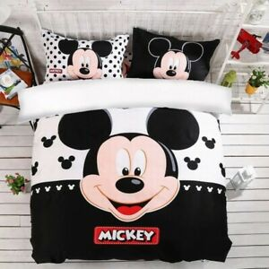 Mickey-Mouse-Bedding-Sets-for-Kids-Boys-Room-Twin-King-Size-Duvet-Cover-Cartoon