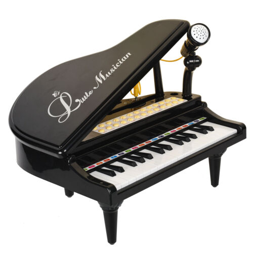 31 Keys Black Grand Piano Keyboard Toy for Kids Children Toddler