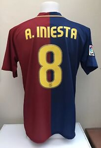 Image is loading Barcelona-Football-Shirt-Jersey-INIESTA-8-Home-2008- b573e0e2974fa