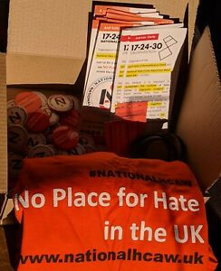No Place For Hate in the UK NationalHCAW Packs 3 T-shirt, 30+ Badges & Leaflets