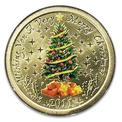 2017 Australia Christmas One Dollar UNC Perth Mint