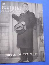 Feb. 8 - 1956 - Anta Theatre Playbill - Middle of the Night - Edward G. Robinson