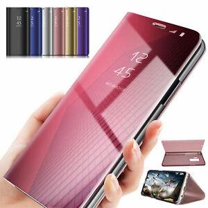 OnePlus-7-7-Pro-Case-Cover-360-SMART-Miroir-View-flip-dur-dur-avec-Support