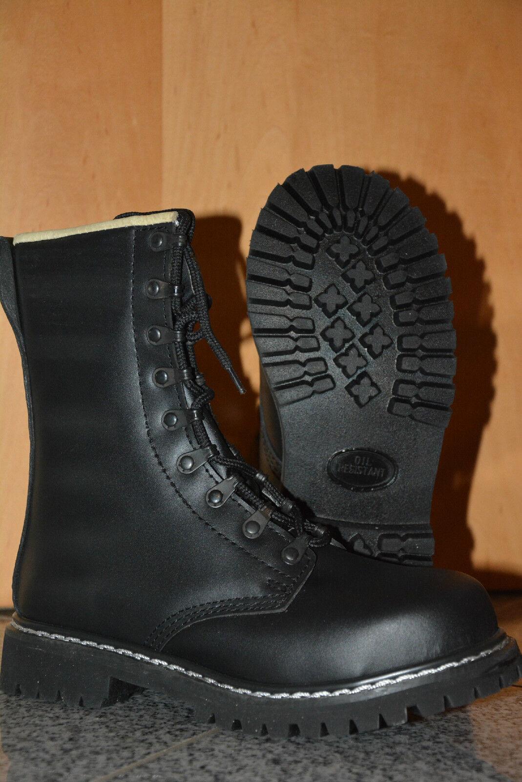 Schuhe Stiefel mit Schnürung Springerstiefel BW echt LEDER schwarz Größe 41 NEU