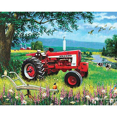 5D DIY Full Drill Square Diamond Painting Tractor Cross Stitch Embroidery Kit