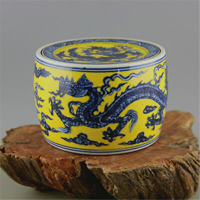 Chinese Old Blue and White Dragon Pattern Porcelain Tea//Wine Cup
