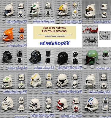Lego Helmet crash helmet with visors Racer Space minifigure Choose qty /& Colour.