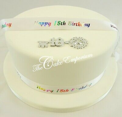 18th & 21st Argento/oro Chiave Motto & Compleanno Nastro Cake Topper Pack-