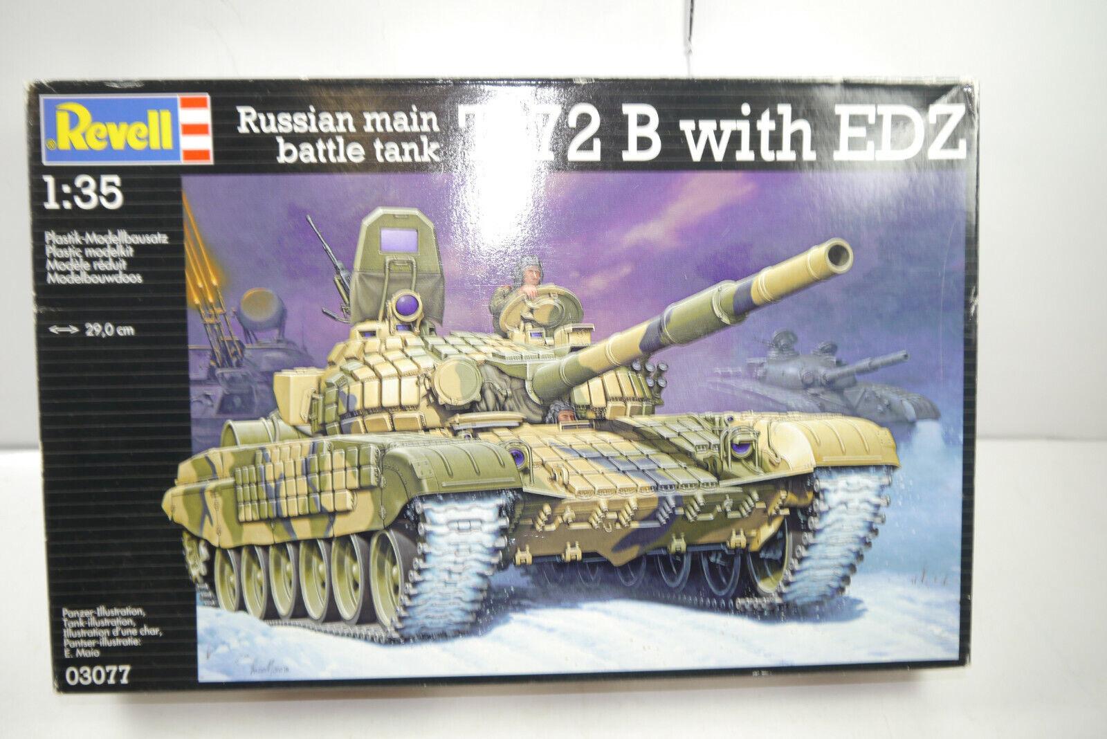 REVELL  03077 Russian main battle tank  T-72 B with EDZ Modellbausatz 1 35 (MF8)