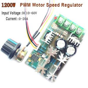 12V 24V 36V 48V 60V 1200W 20A PWM FAN Controller DC Motor Speed Kontroll Modul