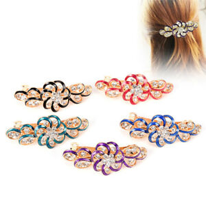 Edwina-femme-cheveux-clip-Fleur-cristal-strass-barrette-epingle-tete