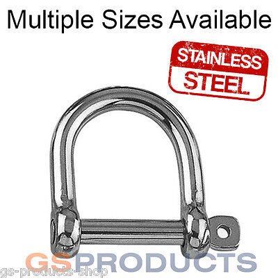 BRAND NEW 12mm STAINLESS STEEL 316 WIDE JAW SHACKLES