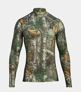 NEW-Under-Armour-Coldgear-Infrared-Mens-Realtree-Medium-Pullover-Shirt-1259129