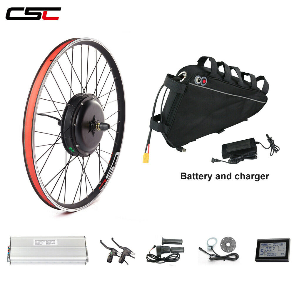 Ebicicletta 48V 1000W electric bicicletta conversion kit & triangle battery 48V 1320Ah