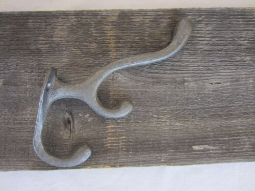 50 Cast Iron Hooks Triple Coat Hat Wall Vintage Hook Farm Coat Hook Ornate Cabin