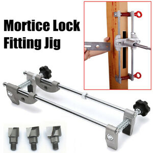 Türschloss Lock Fitting Mortiser Jig new 3 Fräser 3 Fräser 18/22/24M