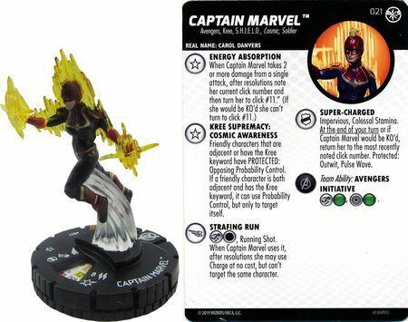 Captain Marvel - 021 Captain Marvel Movie Set NM with Card Sun City Games