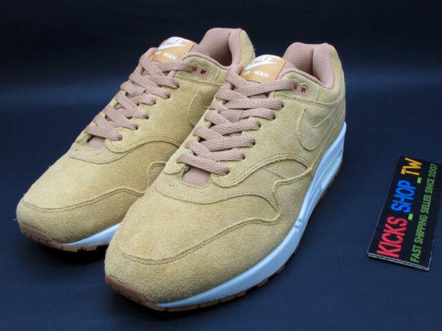 nike air max 1 premio mens 875844 203 lino vela scamosciato scarpe taglia 9