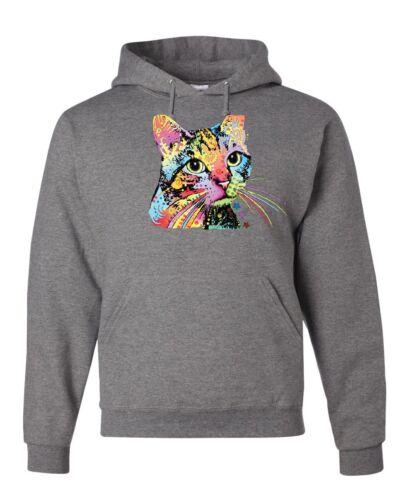 Fabulous Catillac Hoodie Dean Russo Colorful Neon Cat Kitten Sweatshirt
