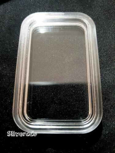 5X ACRYLIC CAPSULERECTANGLE PERTH MINT 1ozDRAGON BAR HIGH QUALITY STACKABLE