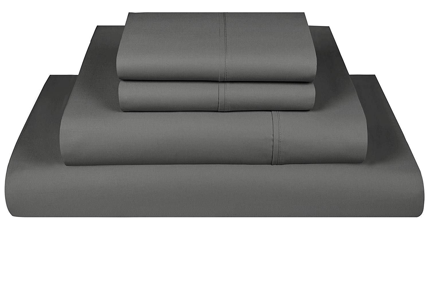 Threadmill Home Linen 600 Thread Count 100% Cotton Sheets, Dark grau Cotton Twin