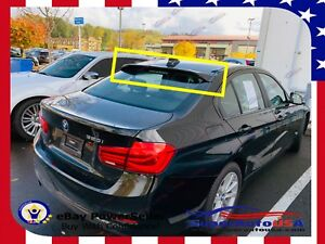 Details About For Bmw 3 Series 2012 2018 F30 Abs Black Rear Roof Window Visor Spoiler 3d Jdm