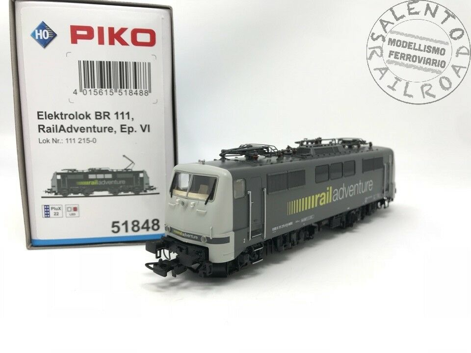 PIKO 51848 locomotiva elettrica BR 111 215-0 Railadventure epoca VI