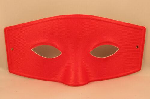 Mens Masquerade Mask Muskateer Costume Halloween Zorro Bandit Red White Black