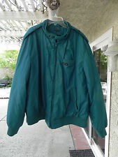 Vintage Members Only Teal Padded Insulated Jacket Men's Size 1X Hong Kong NICE!