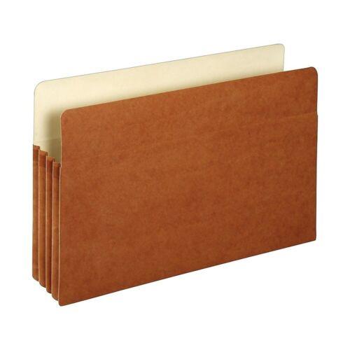 "1526ES Staples File Pockets 3.5/"" Expansion Legal Size Brown 25//Box 418319"