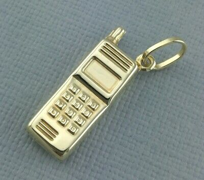 Dynamisch 9ct Yellow Gold Mobile Phone Charm - Pendant