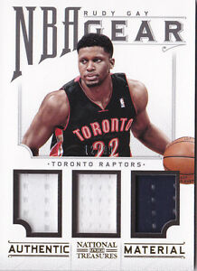 2012-13-Panini-National-Treasures-NBA-Gear-Trios-20-Rudy-Gay-Jersey-99